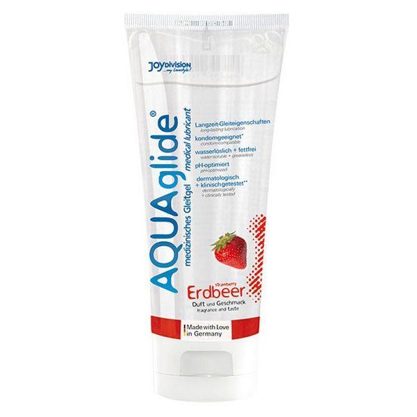 Aquaglide Lubricant Strawberry (100 ml) Joydivision 17909