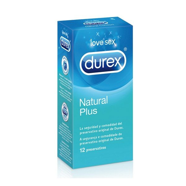 Durex Natural Plus Condoms (12 Units)