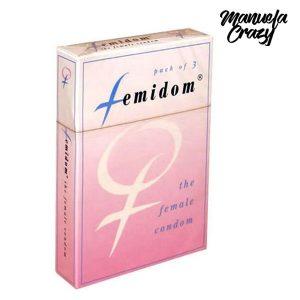 Femidom Kondom för Kvinnor 3 st Manuela Crazy E20743