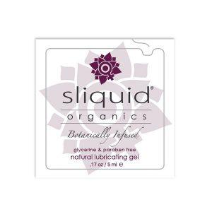 Glidgelskudde Organics Natural 5 ml Sliquid 753