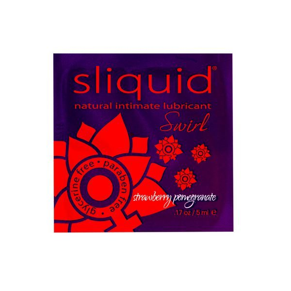 Glidmedelskudde Naturals Swirl med jordgubbs- & granatäppelsmak 5 ml Sliquid 883