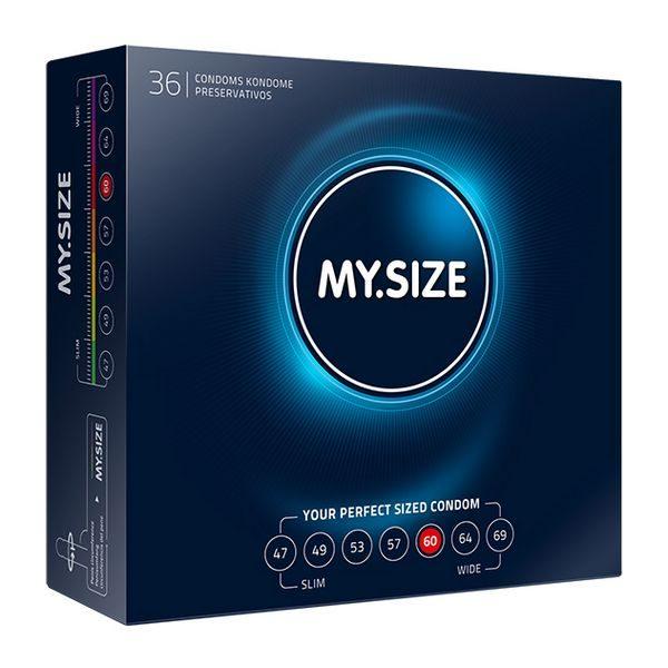 Natural Latex Condom 60 Width 36 pcs MY.SIZE 43632
