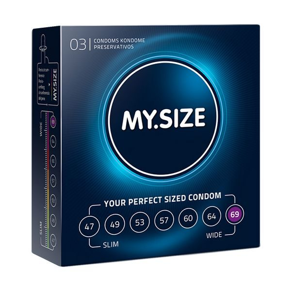 Natural Latex Condom 69 Width 3 pcs MY.SIZE 20183