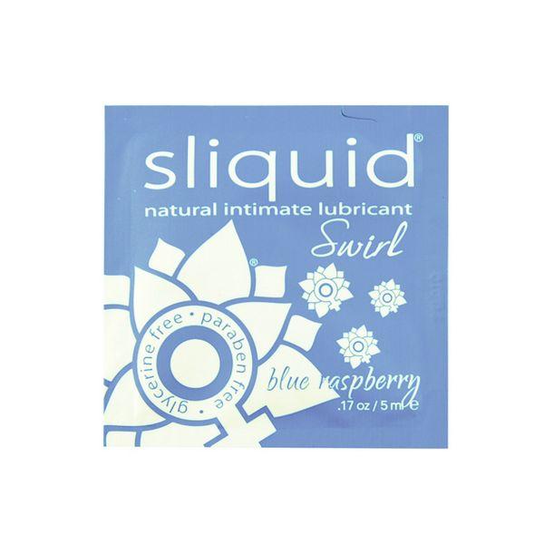 Naturals Swirl Lubricant Pillow Blue Raspberry 5 ml Sliquid 302