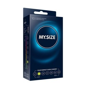 Naturlig Latex Kondom 49 mm 10 st MY.SIZE 30120