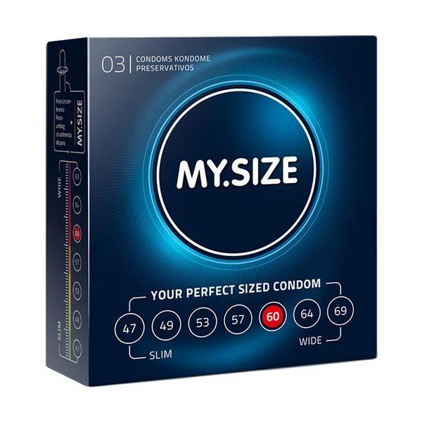 Naturlig Latex Kondom 60 mm 3 st MY.SIZE 20152