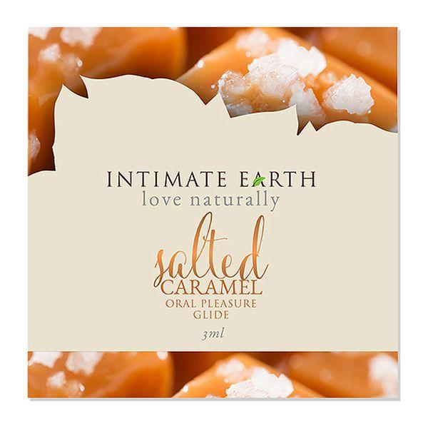 Oral Pleasure Glide Salted Caramel Foil 3 ml Intimate Earth 6547