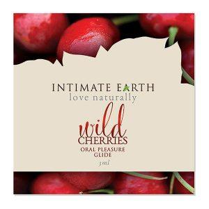 Oral Pleasure Glide Wild Cherry Foil 3 ml Intimate Earth 6554