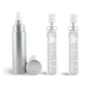Silicone Lubricant Good-To-Go Silver & Refills (3 pcs) Uberlube 3091