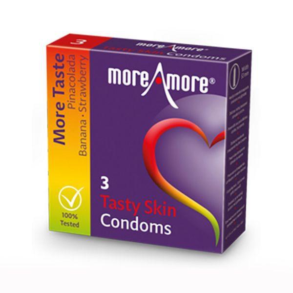 Tasty Skin Condoms (3pcs) MoreAmore 42153